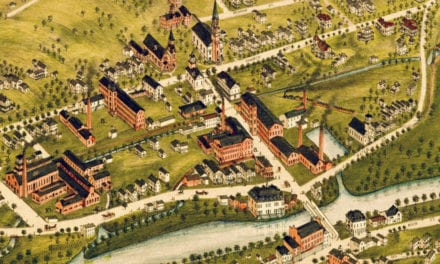 Beautifully restored map of Naugatuck, Connecticut from 1877