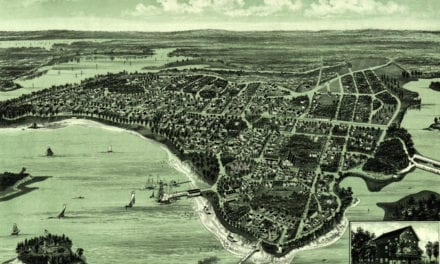 Beautiful map of Onset Bay Grove in Wareham, MA from 1885