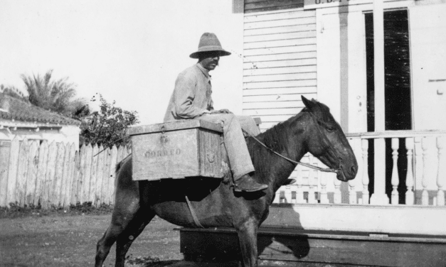 Puerto Rican Mailman Delivering Mail by Horseback, 1880