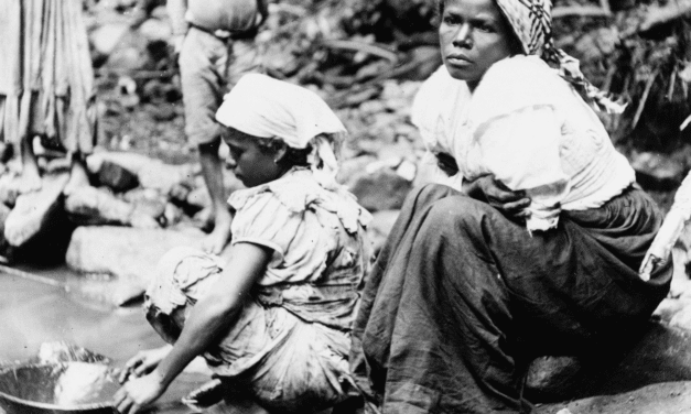 Puerto Rican Women Panning for Gold in a Stream, 1890