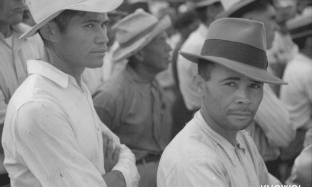 Yabucoa, Puerto Rico. Sugar workers at a strike meeting