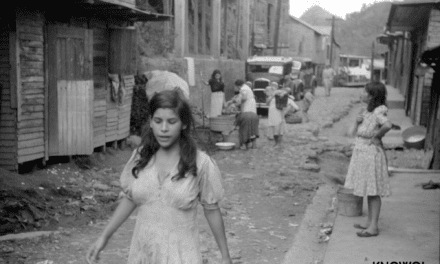 A street in the slum area of the hill town of Lares, Puerto Rico