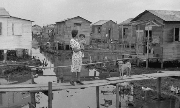 """San Juan, Puerto Rico. In the huge slum known as """"El Fangitto"""""""