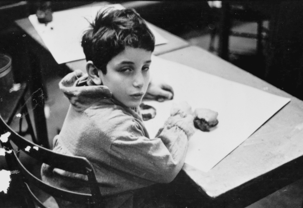 A photograph of a Chicago school boy, taken by Stanley Kubrick