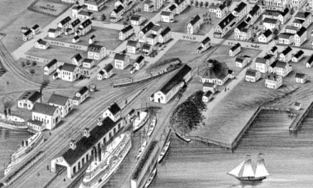 Beautifully restored map of Stonington, Connecticut from 1879