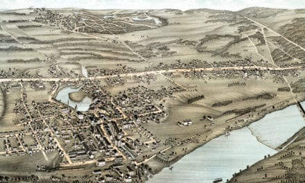 Beautifully restored map of Thompsonville, CT from 1878