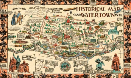 Historical map of Watertown, Massachusetts from 1930