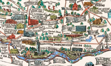 Beautifully restored map of Watertown, MA from 1930