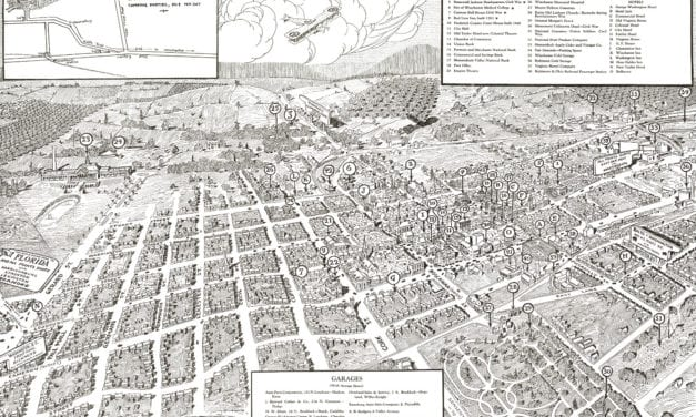 Beautifully detailed map of Winchester, Virginia from 1926