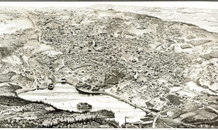 Beautifully detailed map of Woburn, Massachusetts in 1883