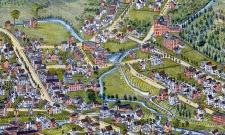 Beautifully detailed map of Danbury, Connecticut from 1884