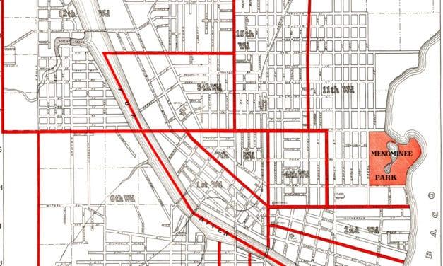 Historic old map of Oshkosh, Wisconsin from 1919
