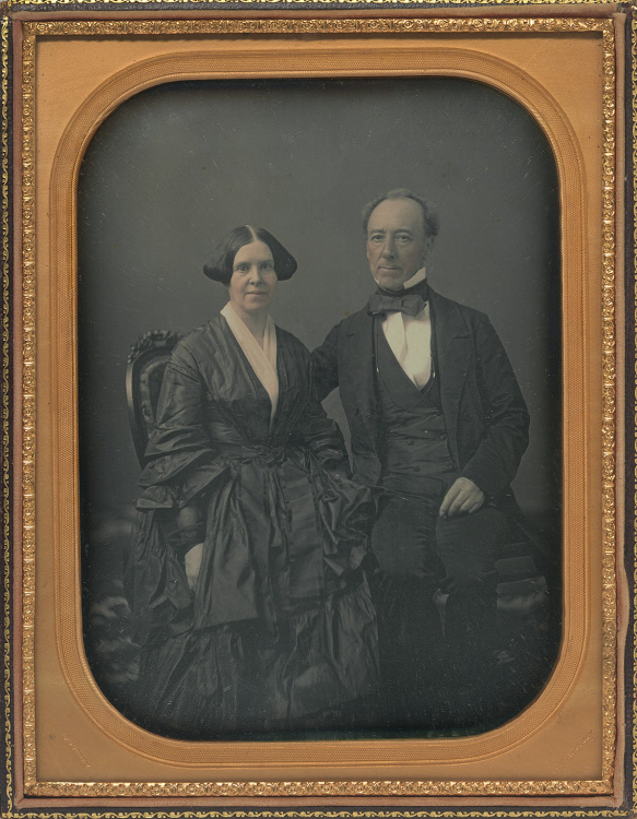 Moses Yale Beach and Wife
