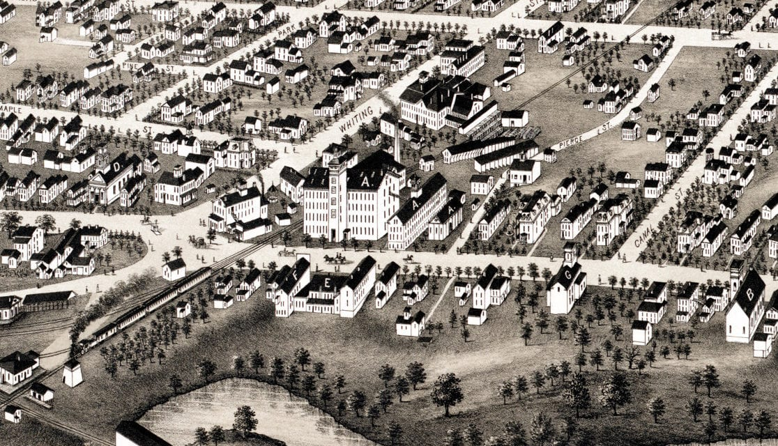 Beautifully restored map of Plainville, Connecticut in 1878