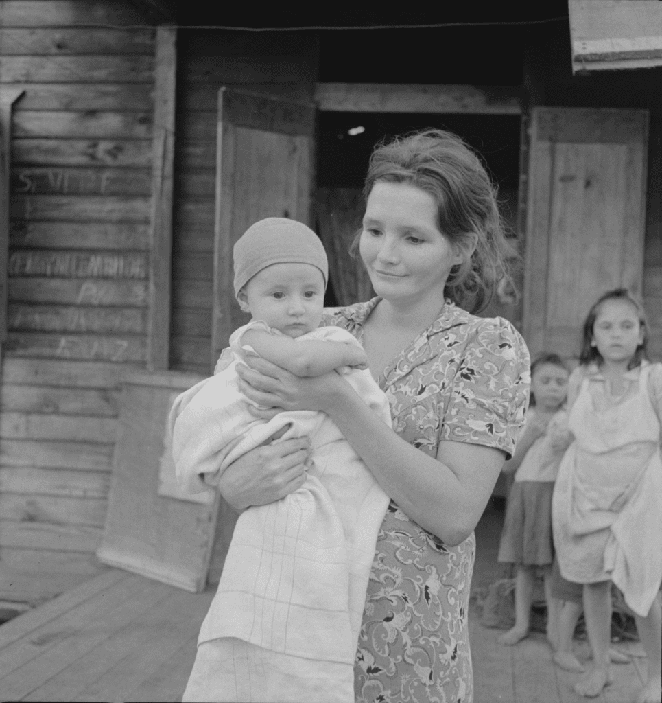 Puerto Rican Woman With Her Child in San Juan Puerto Rico