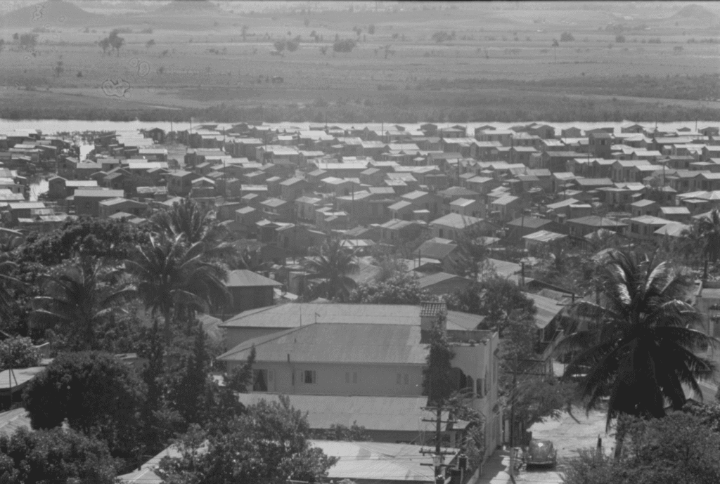 The El Fangitto Slums of San Juan, Puerto Rico.