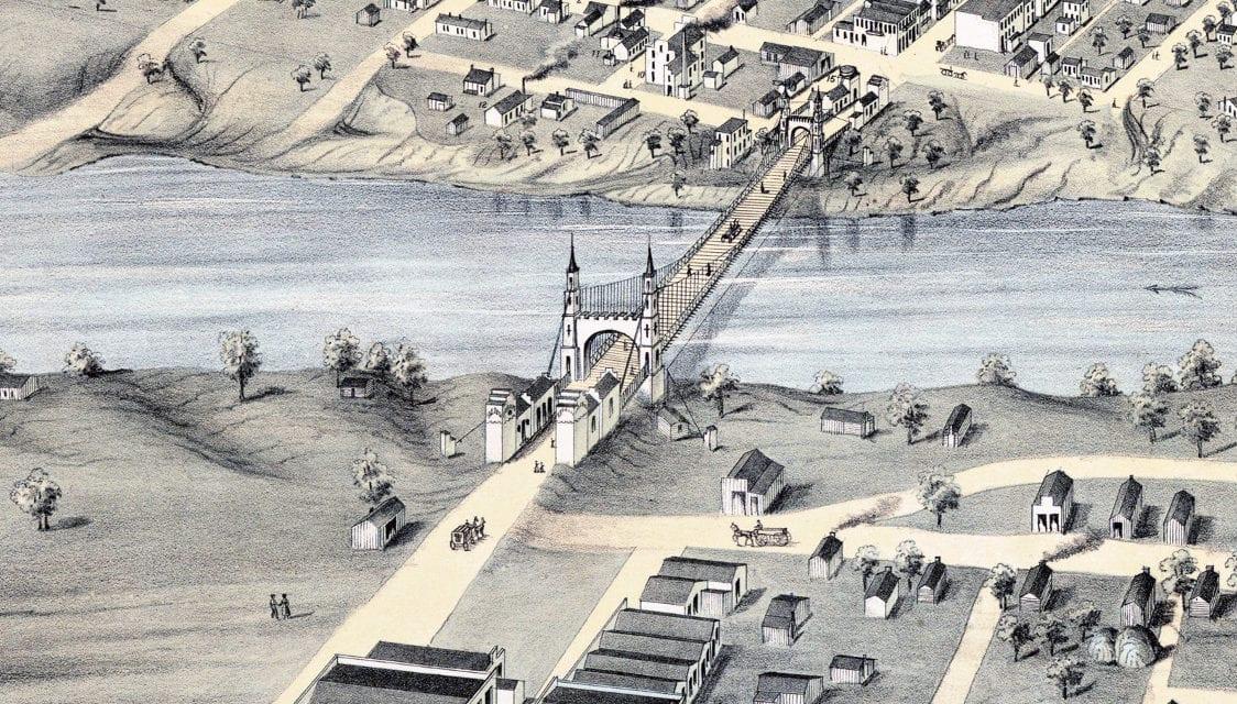 Beautifully restored map of Waco, Texas from 1873