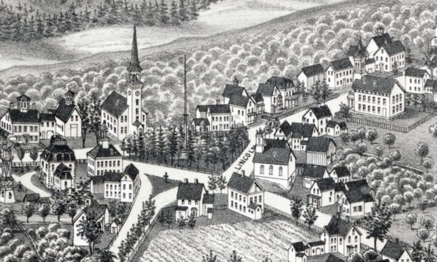 Beautifully restored map of Westford, MA from 1886