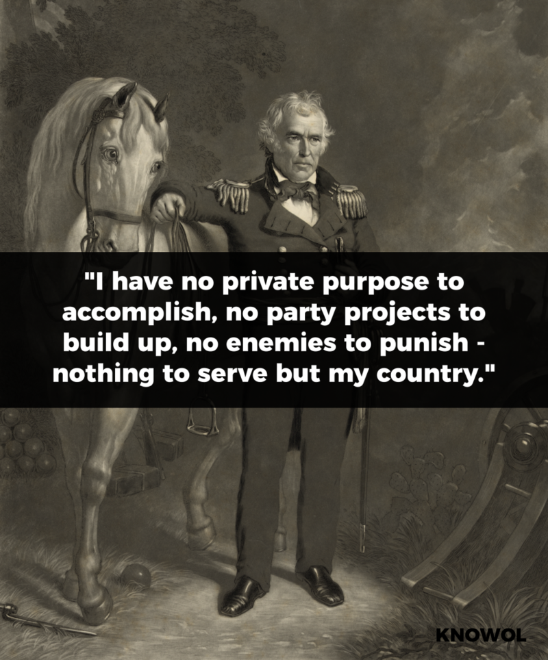 President Zachary Taylor Quote