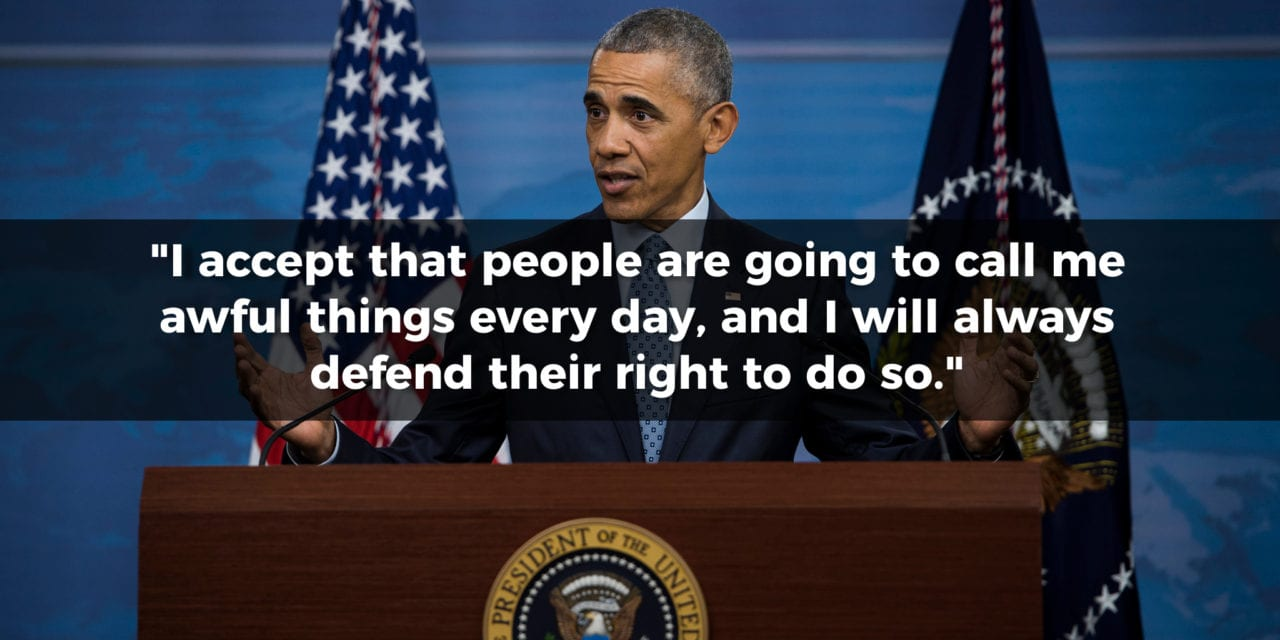 Barack Obama on Freedom of Speech