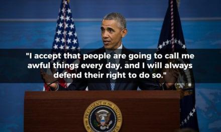 Barack Obama on Freedom of Speech