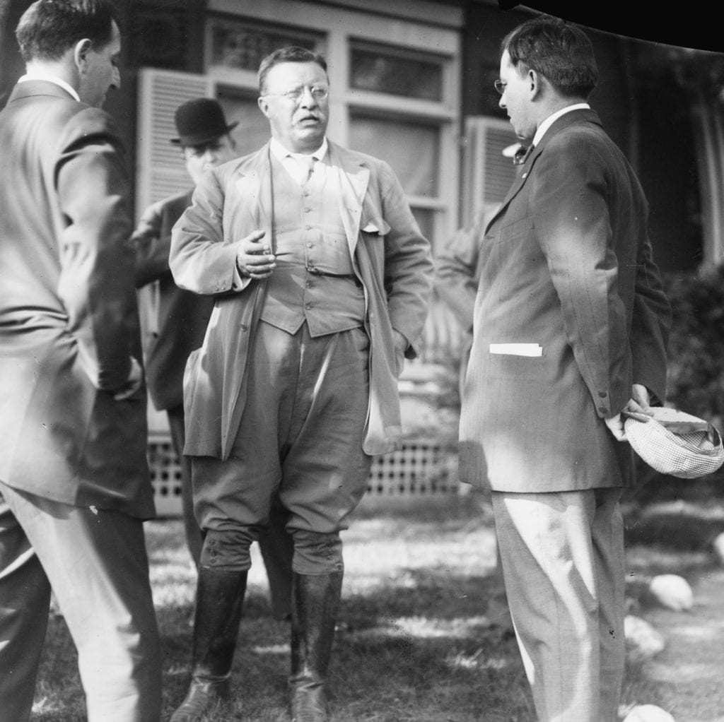 Theodore Roosevelt at Sagamore Hill on June 1, 1912