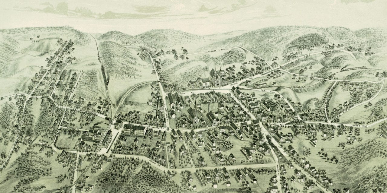 Beautiful vintage map of Bethel, Connecticut from 1879