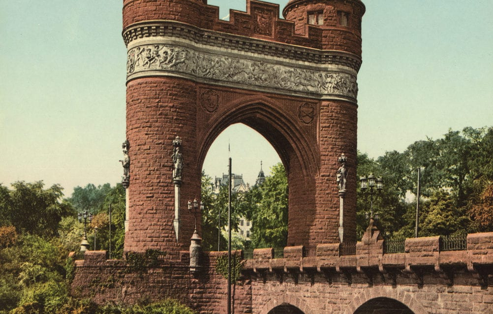 Hartford's State Capital, Memorial Arch, and Bushnell Park