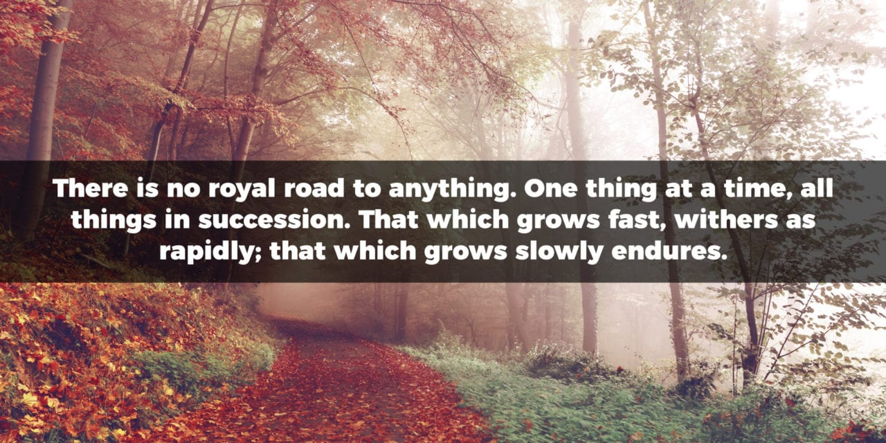There Is No Royal Road To Anything