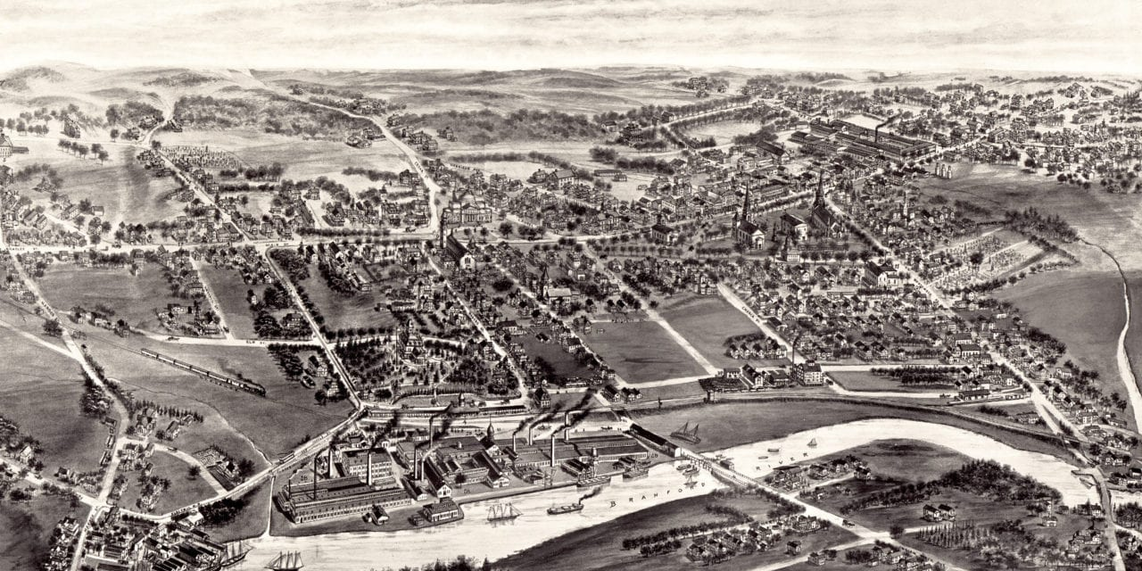 Beautifully detailed map of Branford, Connecticut in 1905