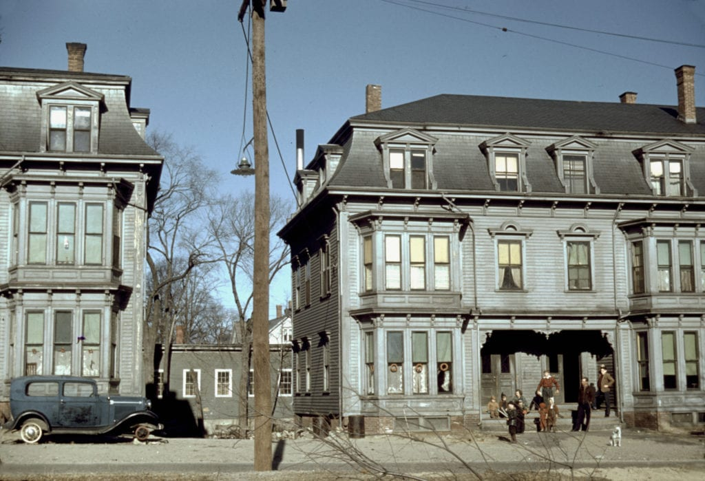 The building on the left is 14-20 Rosseter St and the one on the right is 22-28 Rosseter St.