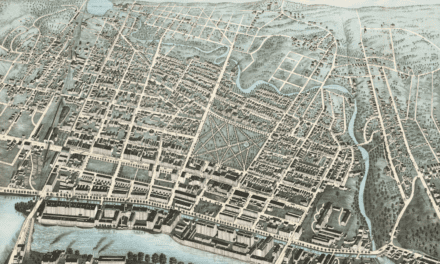 Beautifully detailed map of Lawrence, MA from 1876