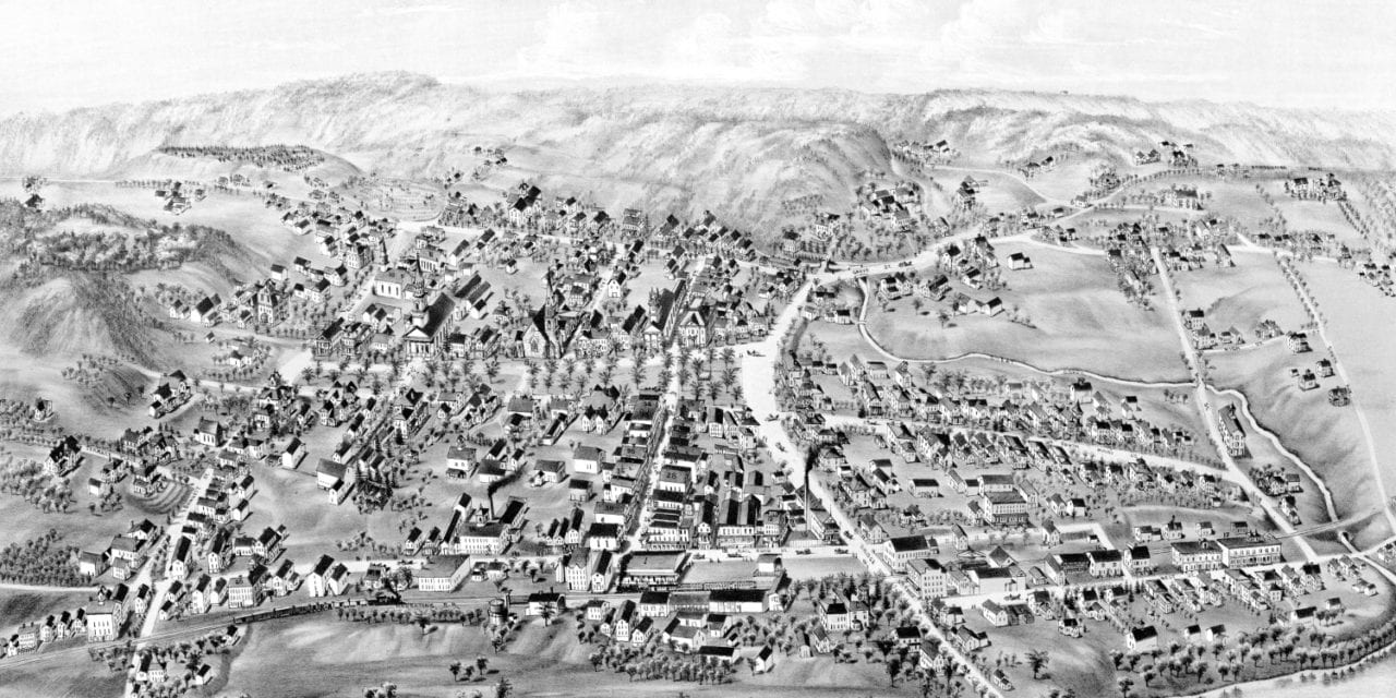 Stunning vintage map of New Milford, CT from 1882
