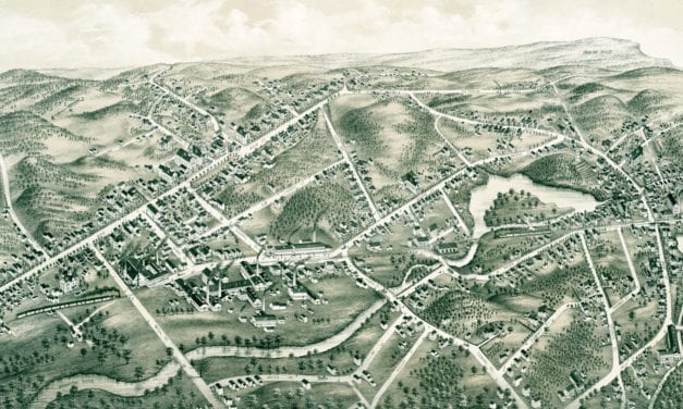 Beautifully restored map of Southington, CT from 1878
