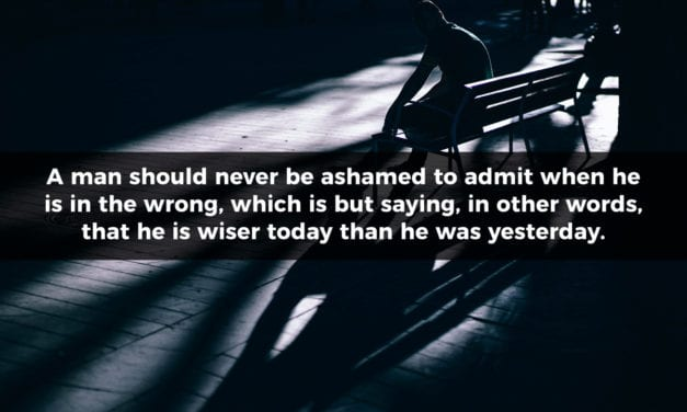 Admit When You Are Wrong