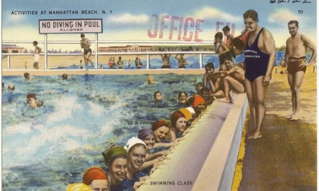 Postcards of Brooklyn's Manhattan Beach in the 1940's