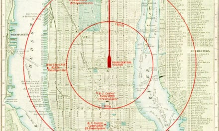 "New York City, a map of ""the center of the world"" in 1902"