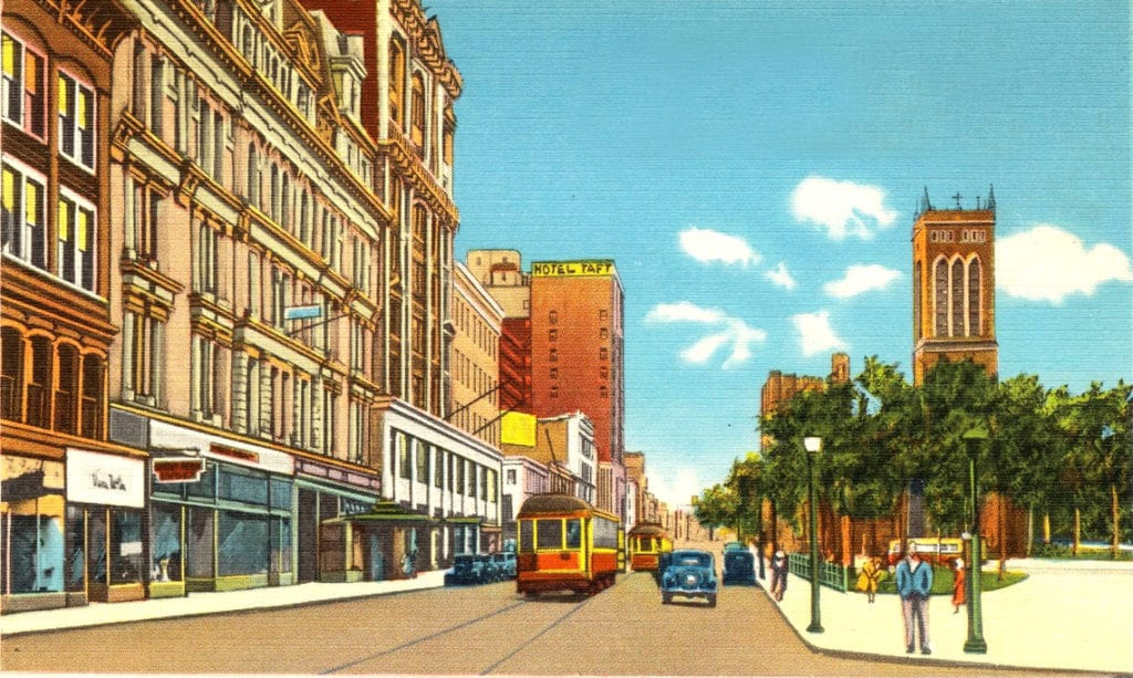 Chapel Street, Looking West, New Haven, ...