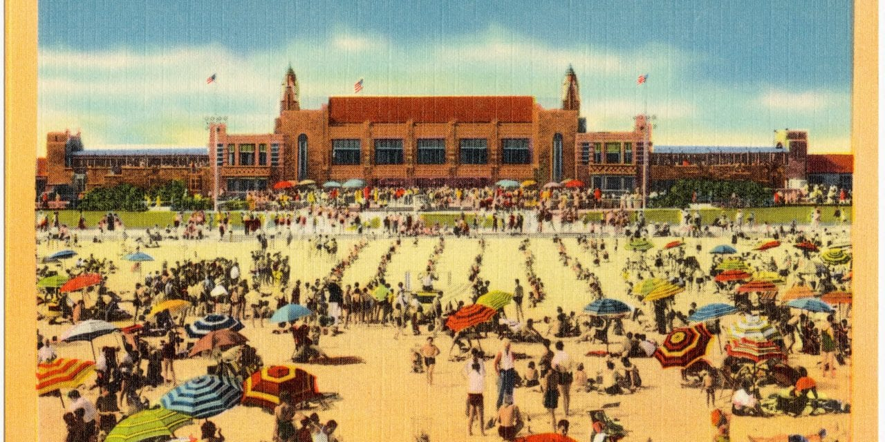 Spend a day at Jones Beach, Long Island in the 1950's