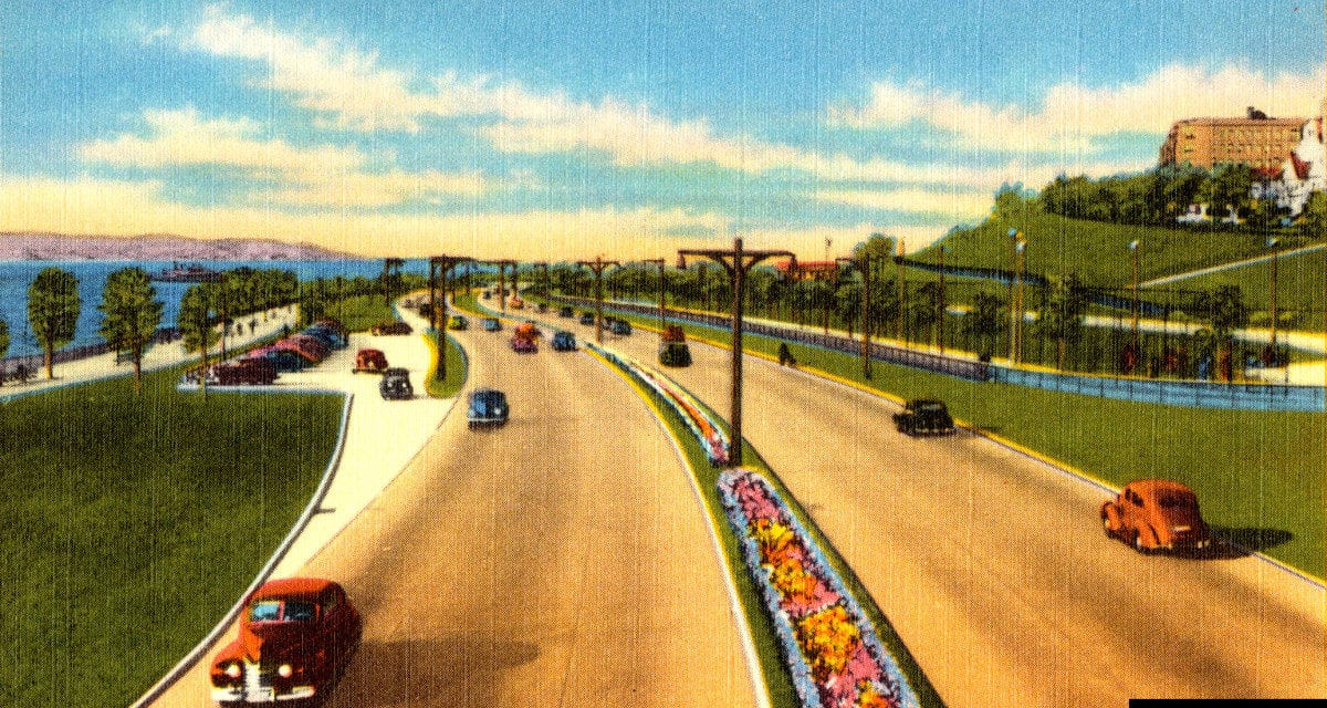 Brooklyn's Shore Parkway as it looked in 1945