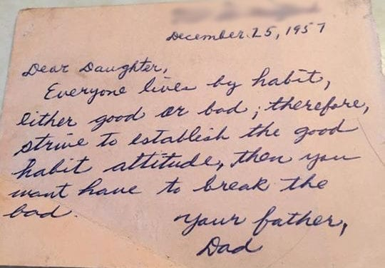 60 year old advice from Father to Daughter still holds true today