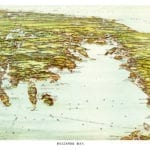Beautiful vintage map of Buzzards Bay, Massachusetts from 1907