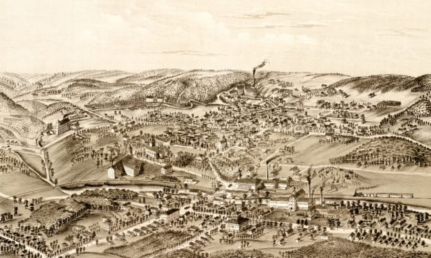 Beautiful vintage map of Forestville, CT from 1880