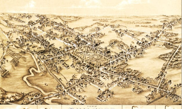 Vintage map of Guilford, Connecticut from 1881