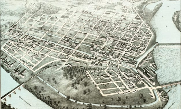 Stunning old map of Holyoke, Mass from 1877