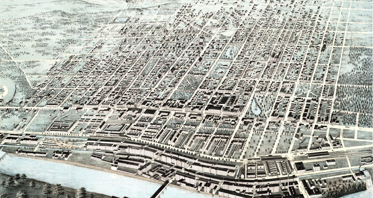Vintage map of Manchester, NH from 1876 - KNOWOL