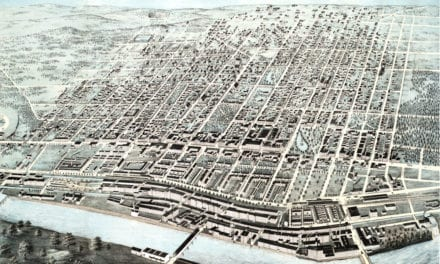 Vintage map of Manchester, NH from 1876