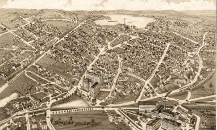 Beautifully restored map of Wakefield, Mass from 1882