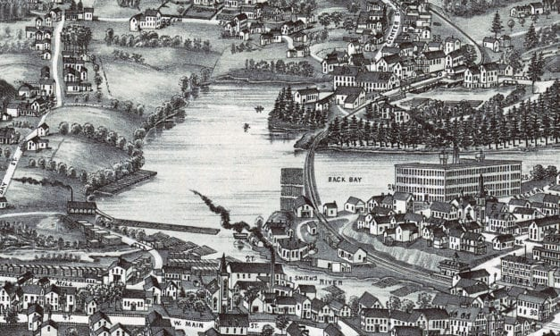 Beautifully restored map of Wolfeboro, NH from 1889