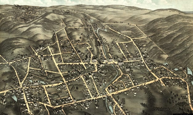 Beautiful old map of Bristol, Connecticut from 1878